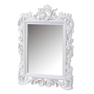 Espejos Decorativos De Pared Blanco Barroco Los Mejores Para Comprar En Internet Con Facilidad